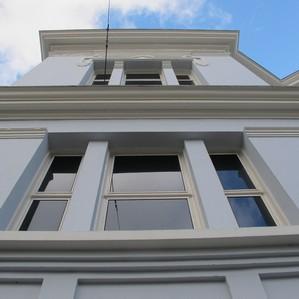 Detail voorbouw museum Arnhem