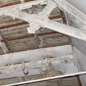 Detail constructie gymnastiekzaal