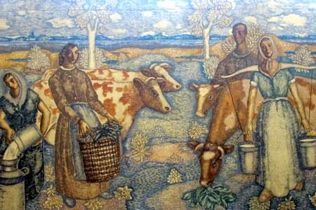 Detail muurschildering Harry Koolen Campina Eindhoven