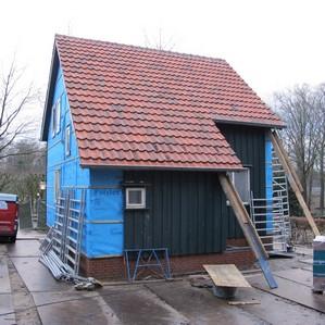 Opbouw watersnoodwoning in Openluchtmuseum 2014