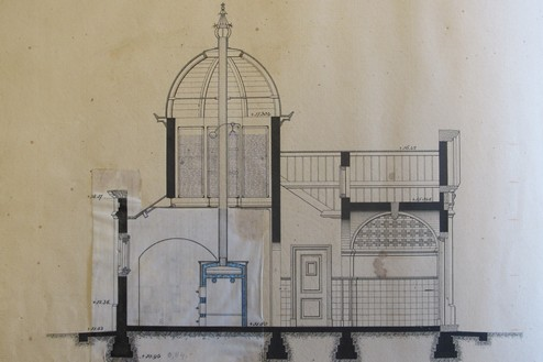 Plan voor reinigingsgebouw Kazerne Assen ca. 1893
