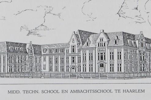 Ambachtsschool Haarlem Ontwerp P. Doorn 1912