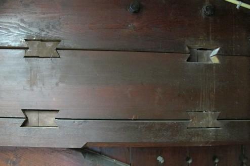 Huis van bewaring II Detail kapconstructie stalleskerk
