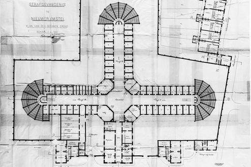 Huis van bewaring II Plattegrond begane grond