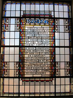 Ambachtsschool Haarlem Glas-in-loodraam hoofdtrappenhuis