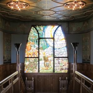 Jachtslot Mookerheide glas-in-loodraam trappenhuis